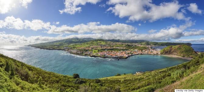 View of Horta - Faial Island / Azores / Portugal