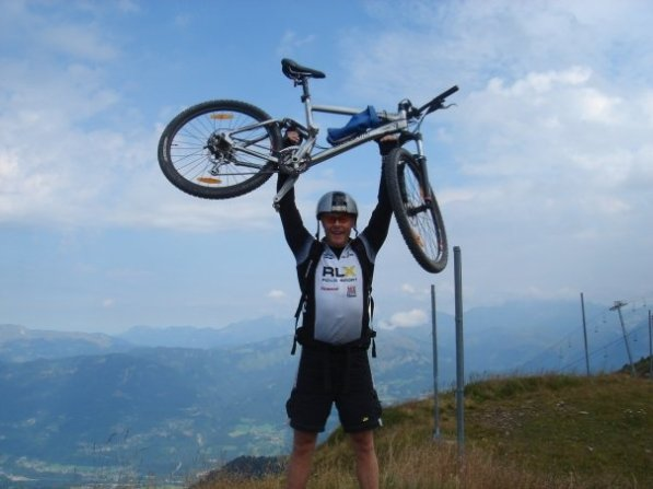 with bike in Samoens