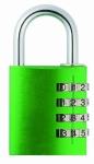 bright green padlock