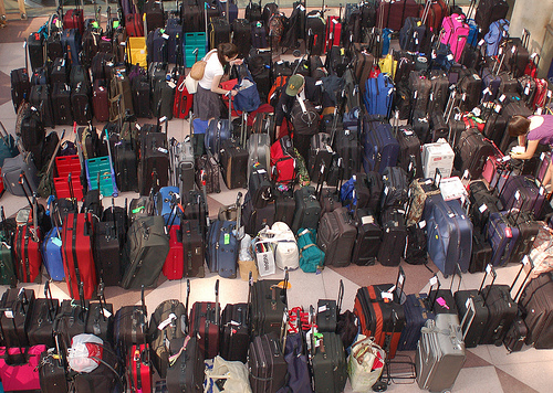 loads of suitcases