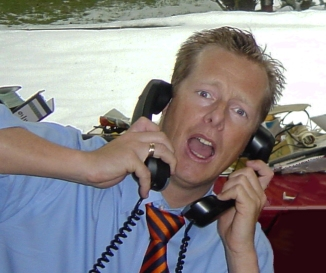 James on phone